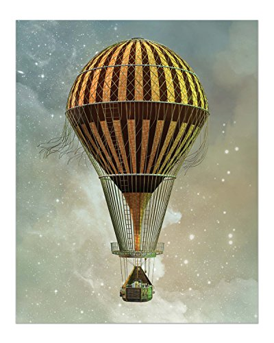 Steampunk Airship Fantasy Prints - Set of 4 (8 inches x 10 inches) Sci-Fi Photos - Stardust Space Wall Decor 5