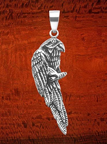 Two Sided Design w//Bail Stainless Steel Parrot Pendant