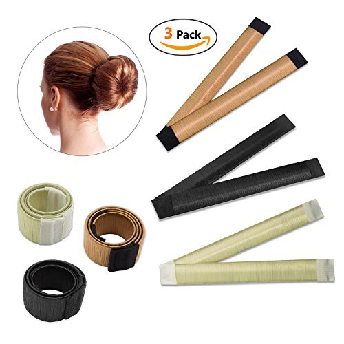 Hair Styling Donut Bun Maker Tool Hair Band Accessory Hair Bun Shapers Curler Roller for Women Girls DIY Hairstyle Tools3 PCS