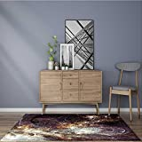 for Home or Travel abstract dynamic fantasy background with lighting effect artistic texture with gray Easier to Dry for Bathroom 5' X 7'