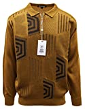 Stacy Adams Men's Sweater, Honeycomb Jacquard Design (X-Large, Tan)