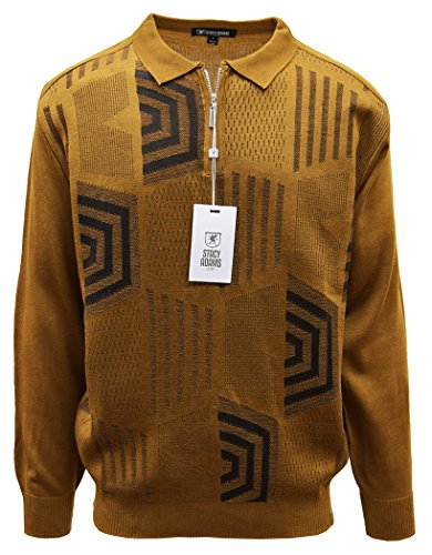Stacy Adams Men's Sweater, Honeycomb Jacquard Design (X-Large, Tan) by Stacy Adams