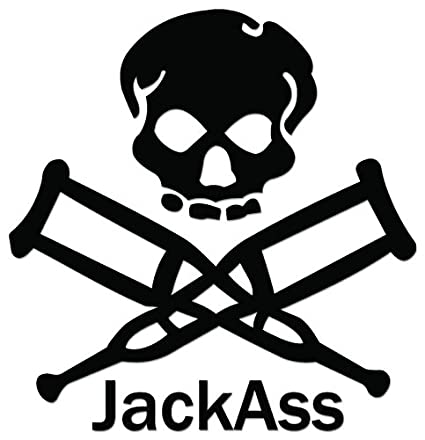 Amazon Com Jackass Skull Crutches Vinyl Decal Sticker For Vehicle