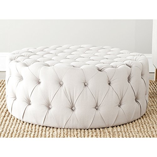 Safavieh Mercer Collection Charlene Taupe Tufted Ottoman ()