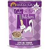 Weruva Cats in the Kitchen, Love Me Tender with Chicken & Duck in Gravy Cat Food, 3oz Pouch (Pack of 8)