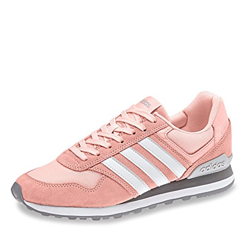 adidas Damen 10k W Fitnessschuhe Rot (Haze Coral S17/ftwr White/grey Two F17 Haze Coral S17/ftwr White/grey Two F17)