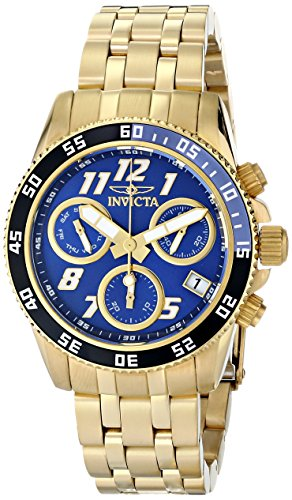Invicta Women's 15510 Pro Diver 18k Gold Ion-Plated Stainless Steel Watch