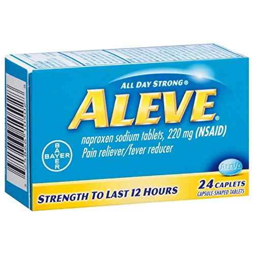 Aleve Pain Reliever/Fever Reducer Caplets, 24 ea (Pack of 36) by Aleve