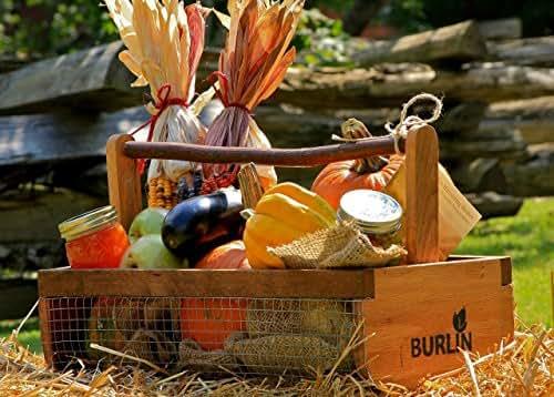 BURLIN Garden Harvesting Basket, Hod Basket, Storage Basket,Large Size
