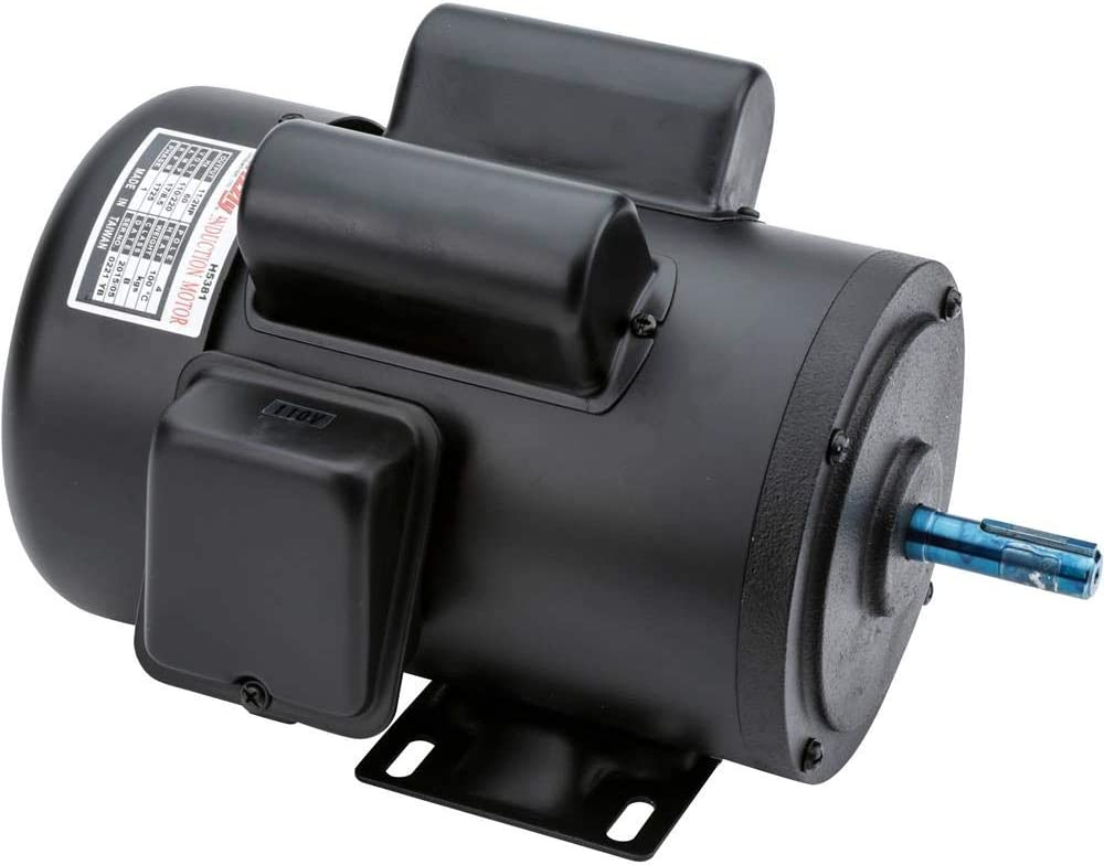 Grizzly Industrial H5381 - Motor 1-1/2 HP Single-Phase 1725 RPM TEFC 110V/220V