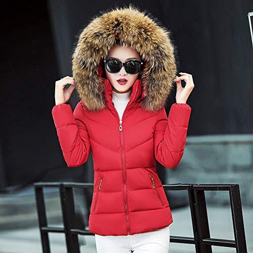 Giubbotto Rosso Cappuccio Invernali Piuma Trincea Impermeabile Homebaby Donna Addensare Corto Cotone Leggero Cappotto Elegante Imbottito Piumino Giacca Caldo Basamento wYwFnqzU