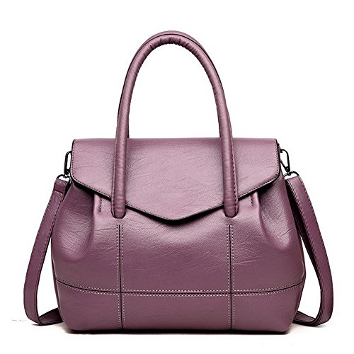 Borse a Donna Odomolor Style tracolla tracolla Chiaretto Moda a Tote Viola Casuale ROIBL181236 Borse qtEwBwHxd