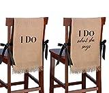 burlap chair covers Lillian Rose I Do Rustic Burlap Wedding Chair Covers Decor