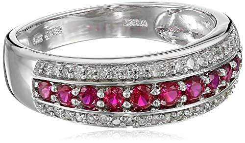 10k-White-Gold-Created-Ruby-and-Diamond-15cttw-I-J-Color-I2-I3-Clarity-Ring-Size-7
