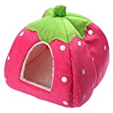 Spring fever Rabbit Dog Cat Pet Bed Small Big Animal Snuggle Puppy Supplies Indoor Water Resistant Beds Pink S (12.212.20.8 inch)