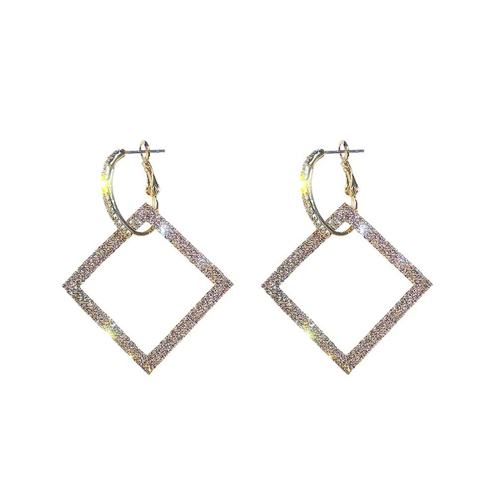 Sisters Statement Earrings Statement Geometric Dangle Earrings for Women Girls Ideal Gifts for Girlfriend and Friends