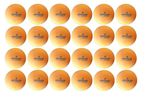 Kettler Orange 1 Star Training Table Tennis Ball 24 Pack by Kettler
