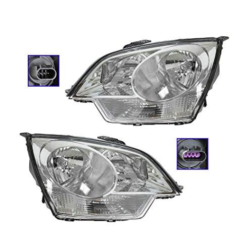 Headlights Headlamps Left & Right Pair Set for Saturn Vue Chevy Captiva Sport (Vue Headlight Lamp Saturn)