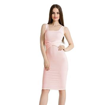 a9ff04a76 BESTSOON Vestido de Fiesta Largo Casual de Las Mujeres Los Vestidos Largos  sin Mangas de Estilo