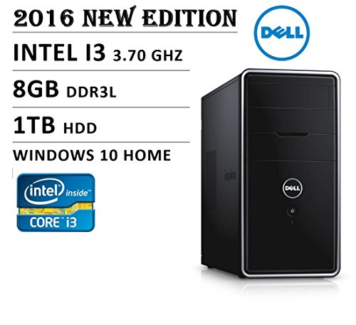 2016 Newest Dell Inspiron Flagship Premium High Performance 3000 Series i3847 Desktop, Intel Core i3 Processor 3.7GHz, 8GB DDR3, 1TB HDD, WiFi, Bluetooth, HDMI, Windows 10, No monitor