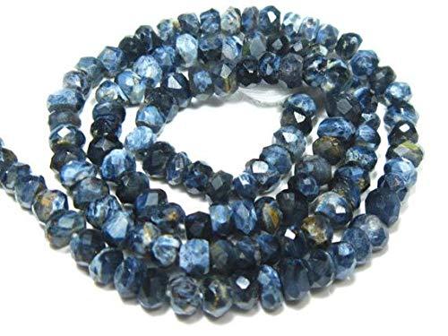 Earth Gems Park Super Fine Quality Gems Jewelry Rare Pietersite Micro Cut Rondelles-13  Strand-Stone measures -3mm Code - BF-10135