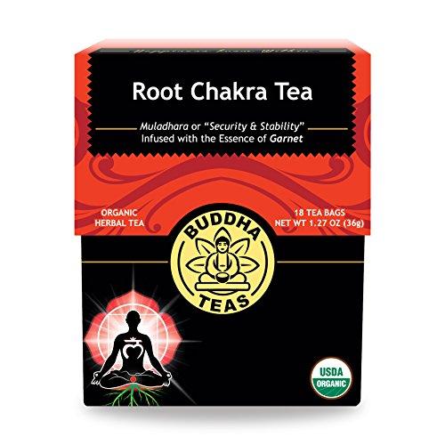 Organic Root Chakra Tea - Kosher, Caffeine Free, GMO-Free - 18 Bleach Free Tea Bags