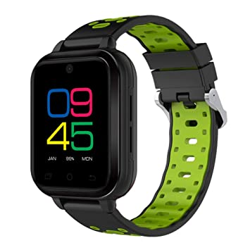 QL Teléfono Inteligente Reloj, Smart Watch Fitness Tracker Android 6.0 Smartphone con Multi-Deporte Modo WiFi HD Cámara GPS 4G Nano SIM Tarjeta para Hombres ...