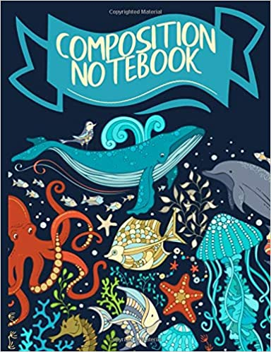 Torrent Para Descargar Composition Notebook: Ocean Life Collage Pattern College Ruled Lined Paper Book De PDF