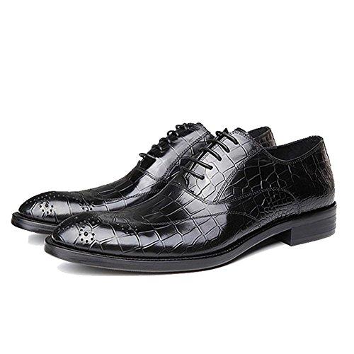 Bullock Britische Männer kleiden Sich Hohl Krokodil The Pack Wingtip Oxford 2