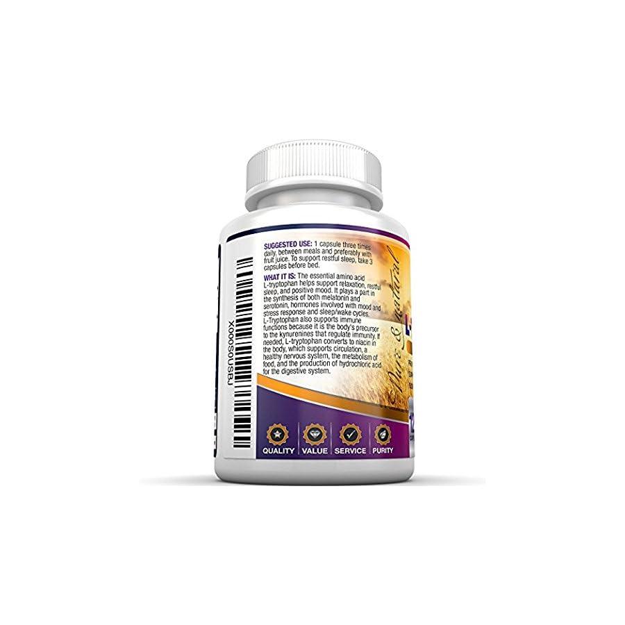 BRI Nutrition L Tryptophan 1500mg Servings 500 mg per Capsule