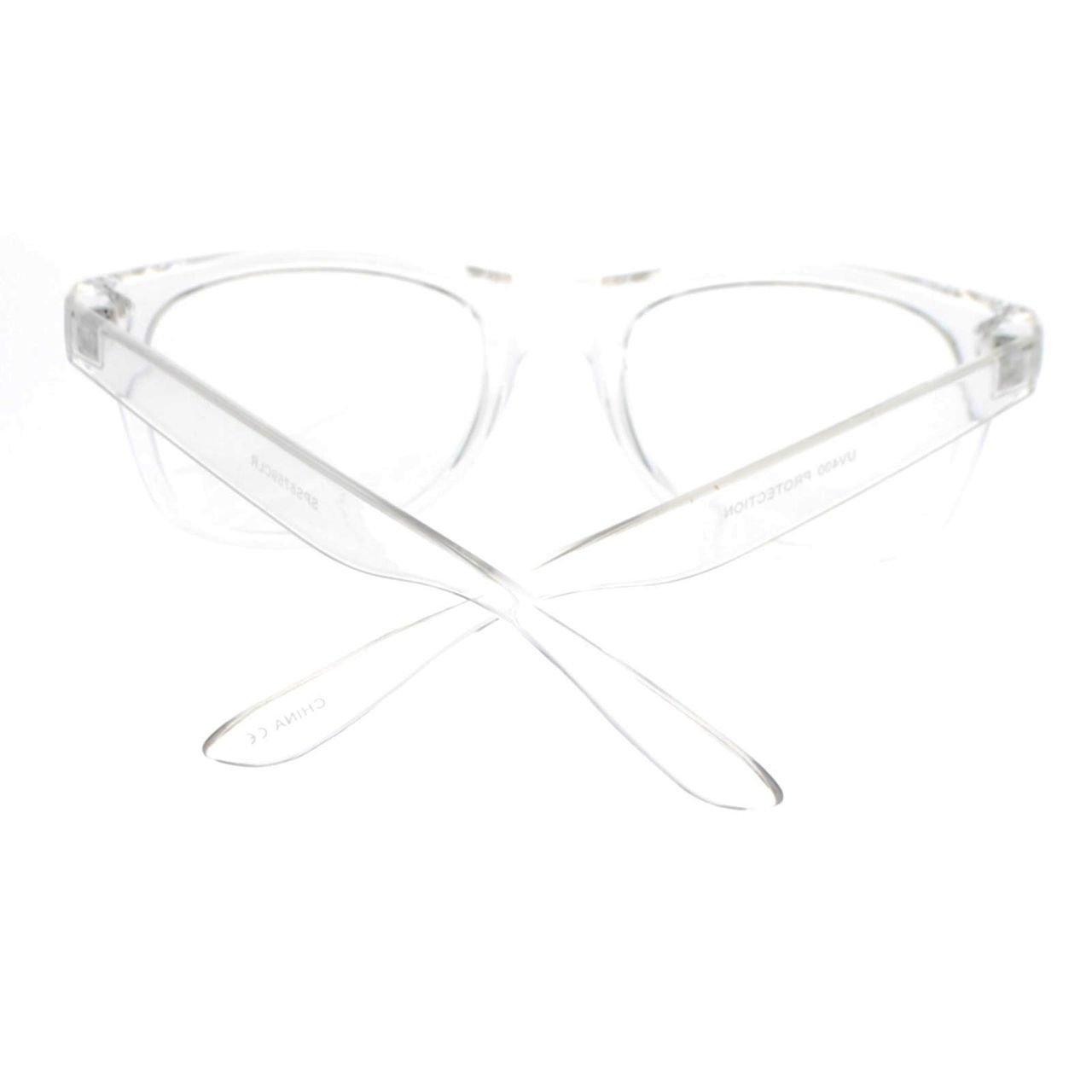 Transparent Clear Plastic Frame Horned Clear Lens Eye Glasses