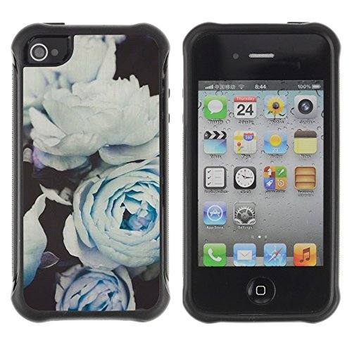 Apple Iphone 4 / 4S - White Roses Composition Art
