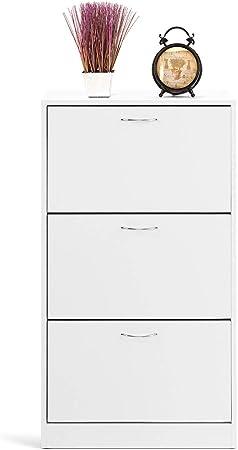 Oferta amazon: COMIFORT Mueble Zapatero de 3 Puertas - Organizador de Zapatos Moderno, Estilo Escandinavo, Gran Almacenaje, Muy Resistente, Fabricado en Europa, Color Blanco
