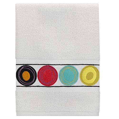 Creative Bath Products Dot Swirl Embroidered Hand Towel,