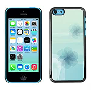 Qstar Arte & diseño plástico duro Fundas Cover Cubre Hard Case Cover para Apple iPhone 5C ( Flowers Wallpaper Light Blue Sky Nature)