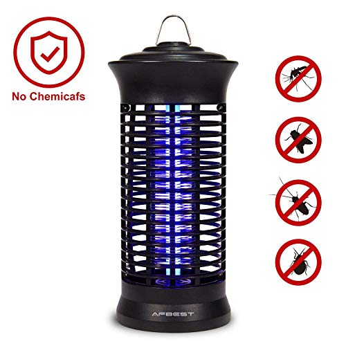 AFBEST Electric Indoor Bug Zapper,Mosquito Killer, Fly Zapper Catcher Killer Trap with UV Bug Light with Large Coverage (Black)