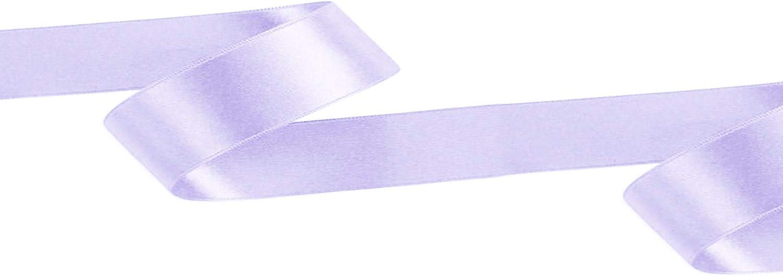 25 mm x 25 m Trimming Shop arti e artigianato Multicolore 1 fiocchi Rotolo di nastro in poliestere satinato double-face 10 mm decorazioni per matrimoni per tessuti confezioni regalo