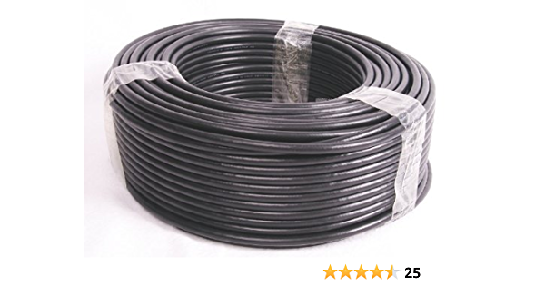 Precio Base 1,79 Euro/m – Bidatong – RG213/ubx – Cable coaxial – 25 m rollo – Fabricado en Alemania.