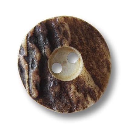 Pulsante paradies–Set di 6vera classica cervo Horn bottoni, in. Taglie/Vero corno di cervo, 15 mm Knopfparadies