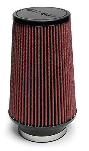 Airaid 701-470 Universal Clamp-On Air Filter: Round Tapered; 4 in (102 mm) Flange ID; 9 in (229 mm) Height; 6 in (152 mm) Base; 4.625 in (117 mm) Top