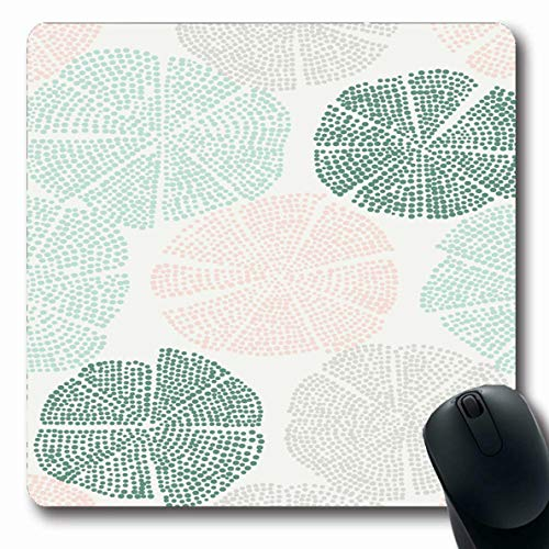 - Ahawoso Mousepad Oblong 7.9x9.8 Inches Native Green Block Woodblock Printed Floral Pattern Abstract Blooming Flower Beige Shibori Authentic Office Computer Laptop Notebook Mouse Pad,Non-Slip Rubber