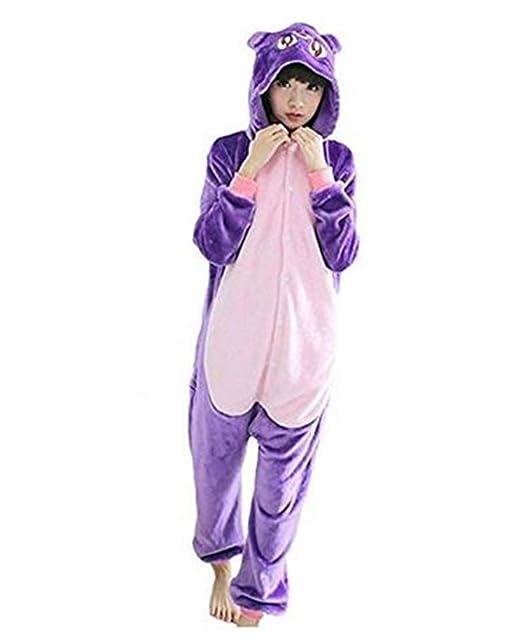 d42309584a Ovender® Kigurumi Pigiami Animali Unisex Bambina Bambino Bambini Costume  Carnevale Halloween Cosplay Unicorno Stitch Gufo Zebra Giraffa Mucca Festa  Party ...