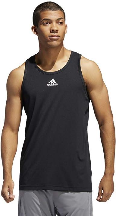 nada Reunión Ejército  Amazon.com: adidas Men's Heathered Tank Top: Clothing