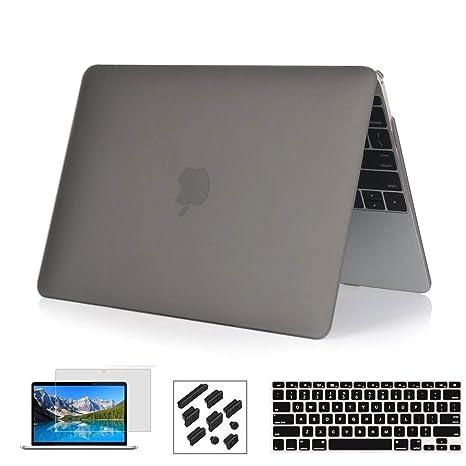 Estuche RYGOU para MacBook Pro de 13 pulgadas A1708 SIN el modelo de barra táctil, cubierta de plástico rígido y protector de pantalla para teclado de ...