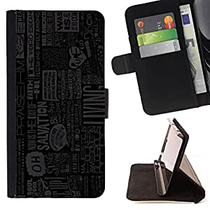Jordan Colourful Shop - life living actions quote slogan newspaper For Samsung Galaxy S6 - < Leather Case Absorci????n cubierta de la caja de alto impacto > -