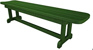 product image for POLYWOOD Park 72-Inch Harvester Backless Bench, Green