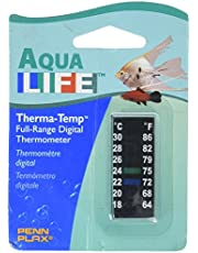 """Penn-Plax DT014 Digital Thermometer Small Strip, 2""""   Great for Checking The Water Temperature in Smaller Tanks"""