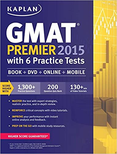 GO Downloads Kaplan GMAT Premier 2015 with 6 Practice Tests: Book + DVD + Online + Mobile (Kaplan Test Prep) by Kaplan
