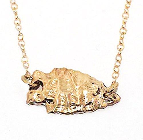 rrowhead Pendant - Delicate Gold Layer Necklace (Gold Seminole Head)