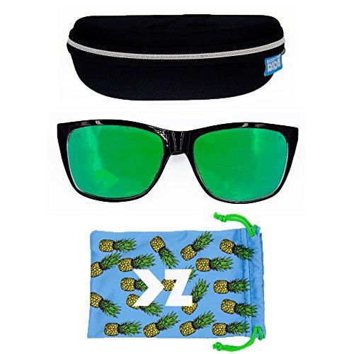 adultos para KZ Gafas Gradient Grey Frame Grey sol Matte Lens de wPw6qI